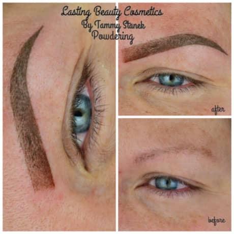 MicrobladingPowder eyebrows