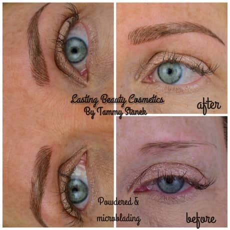Before and After Eyebrows Powdering brows