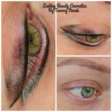 Permanent Eyeliner before and after photo