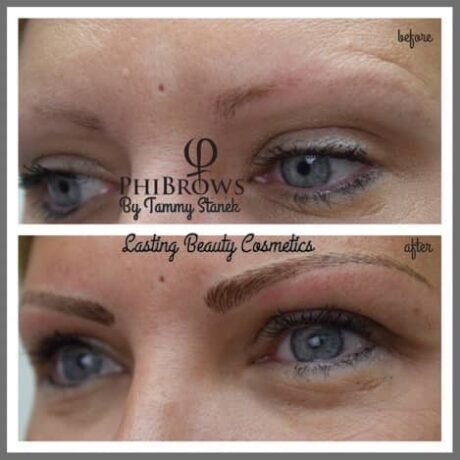 Before and After Microblading brows