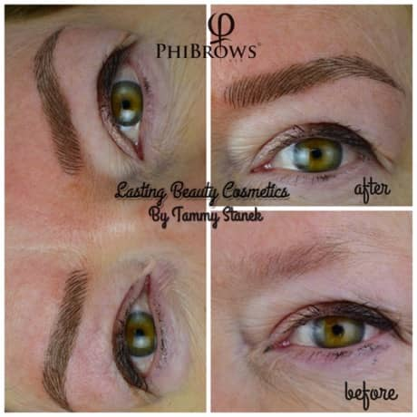 Microblading brows before and After pictures