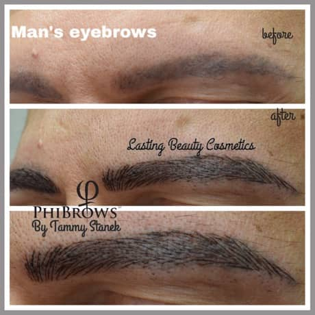Microblading mens Eyebrows