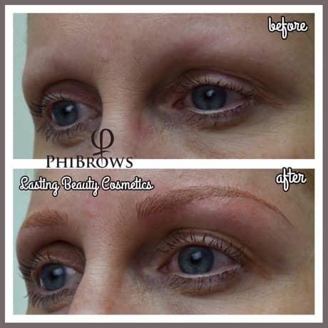 semi-permanent eyebrow technique