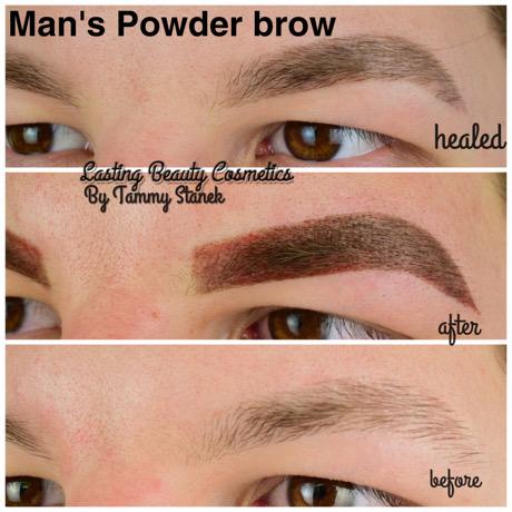 Mans powder brow Madison WI